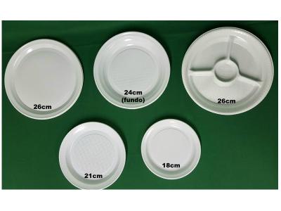 Prato de Plástico para Refeição